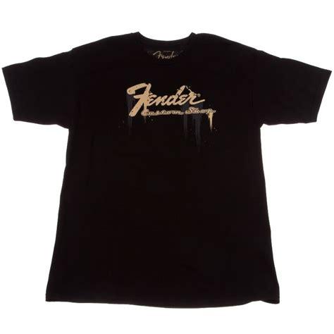 Black T Shirt Fender Logo Guitar S T Shirt Size Xl fender taking me t shirt fender shop