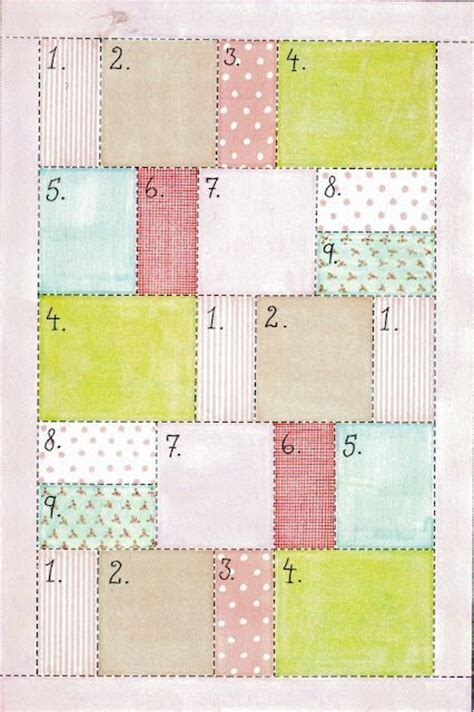 Simple Patchwork Patterns - printable easy quilt patterns calendar template 2016