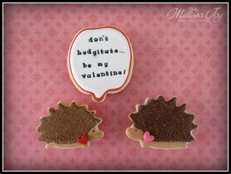 Found These S Day Hedgie Cookies Hedgehog valentine s day cookie speech bubbles cookies