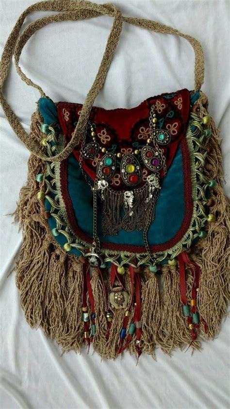 Handmade Boho Bags - bags handbag trends handmade velvet fringe bag