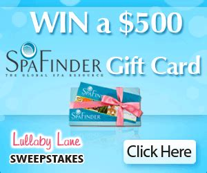 Spafinder Gift Card Locations - enter to win a 500 spa finder gift card