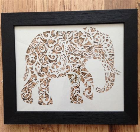 paper cut templates elephant papercut template cut your own safari