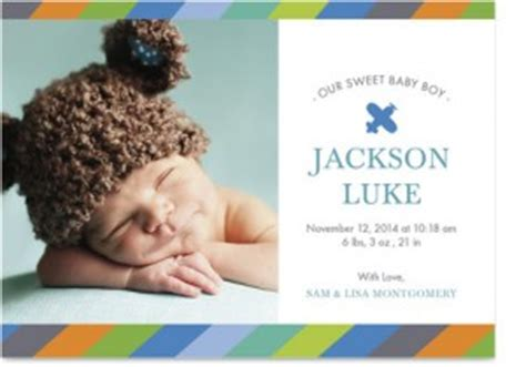 3 free sample birth announcements from cardstore com