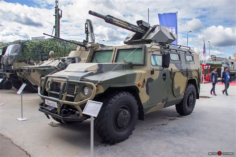 gaz tigr gaz tigr m with new 30 mm combat module at the quot army 2016