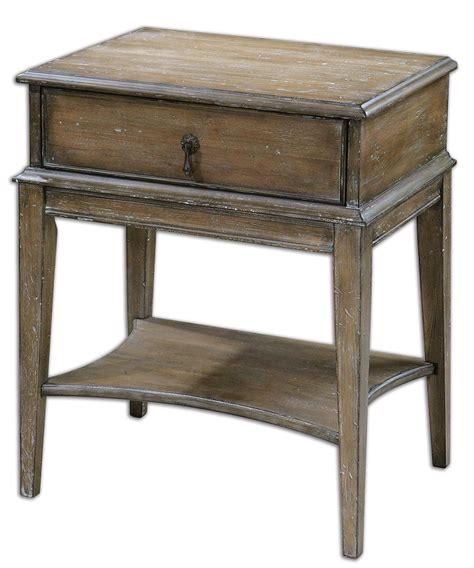country accent table hanford country rustic weathered pine accent table 24312