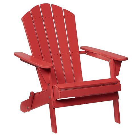 Adirondack Chair Home Depot by Adirondack Wood Folding Chair In Chili 2 1 1088 The Home