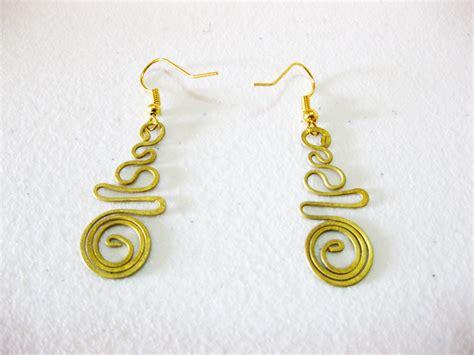 Handmade Jewelry Thailand - earrings dangle brass swirl circle fashion designs