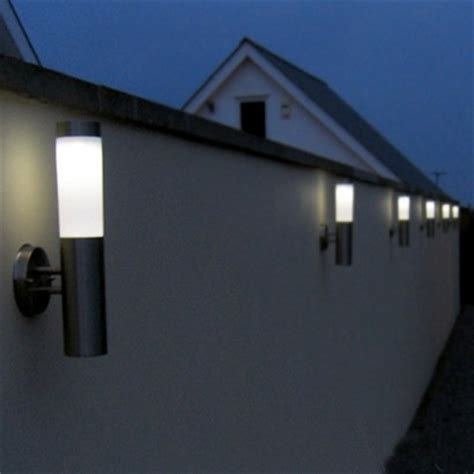Solar Wall Lights Outdoor Uk Canterbury Stainless Steel Solar Wall Light