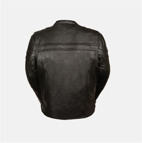 s leather jacket scooter style w gun pocket bikers