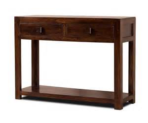 Hi Fi Cabinets Uk Dakota Solid Dark Mango Hall Console Table Drawers Shelf