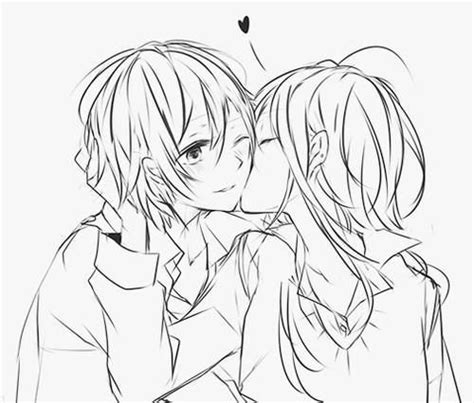 anime couples kissing sketches pinterest the world s catalog of ideas