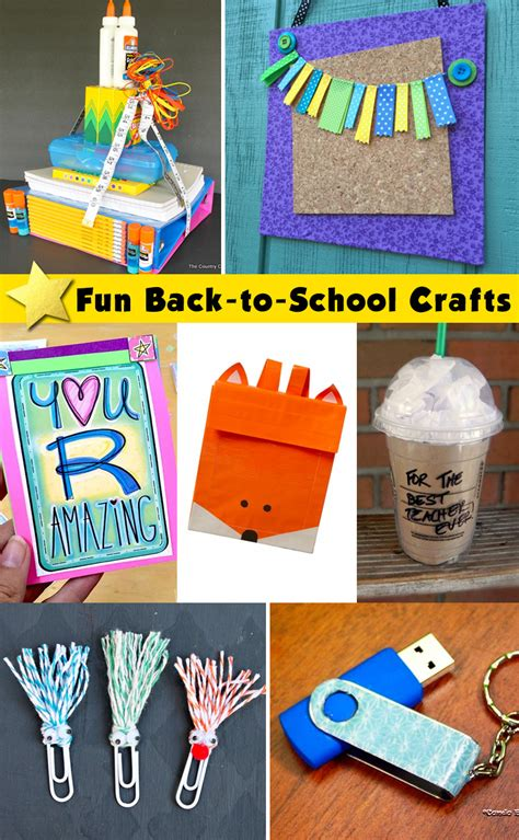 craft ideas for to make at school back to school craft projects morena s corner