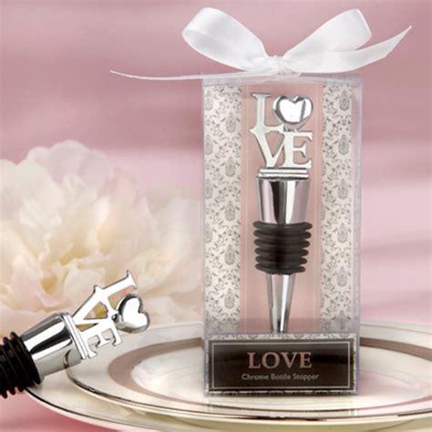 love chrome bottle stopper wedding favors