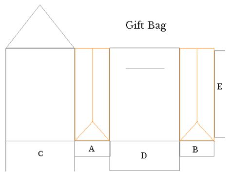 gift bag net template mel stz 50 gift bag templates