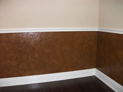 What Paint Finish For Wainscoting by Leather Texture Faux Finish After1 Paints Faux