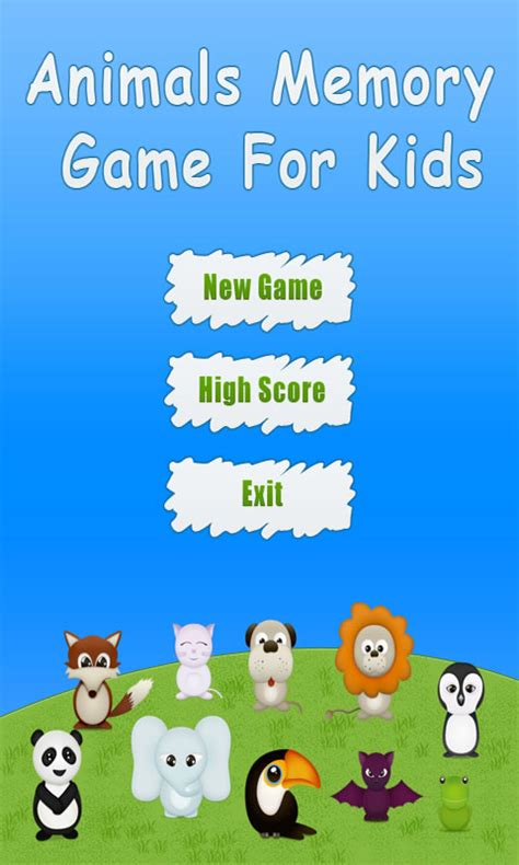 animals memory time android apps animals memory game for kids free android app android freeware