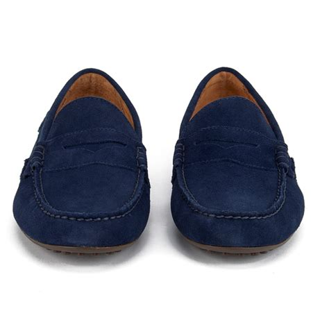 ralph suede loafers polo ralph s wes e suede loafers newport navy