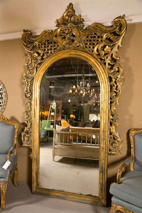 Rococo Floor by 19th Century Monumental Rococo Floor Mirror At 1stdibs