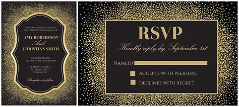 Wedding Invitations Glitter by Gold And Glitter Wedding Invitation Free