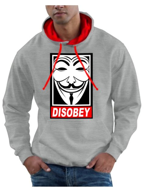 Hoodie Sweater Anonymous v for vendetta hoodie anarchy anonymous hoody fawkes
