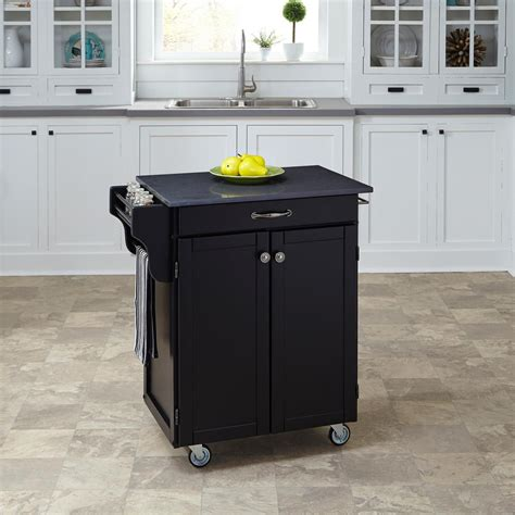 Home Styles Kitchen Cart by Home Styles Cuisine Cart Black Kitchen Cart With Quartz