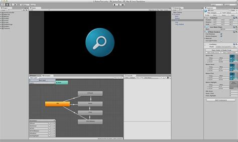 unity layout button unity ui button animation on behance