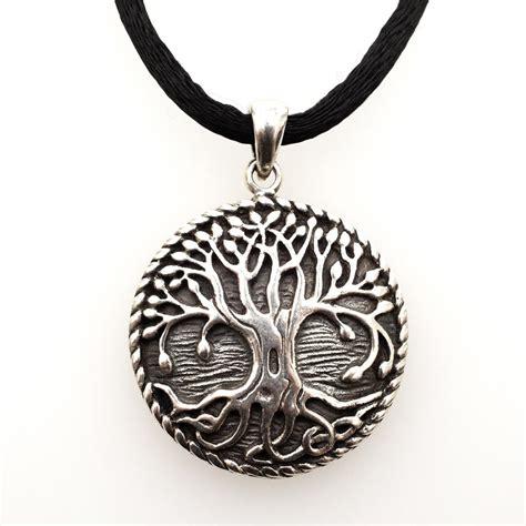 jewelry judaica tree of medallion silver patina
