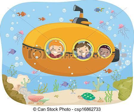 clipart per bambini vectors of submarine illustration of a