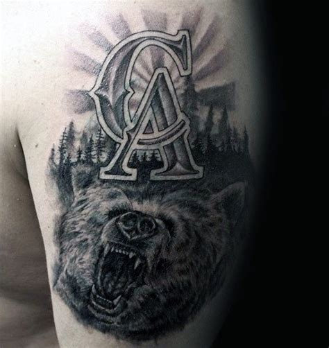 grizzly bear tattoos for men 80 california designs for grizzly ink ideas