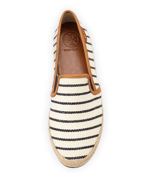 Flet Stripe burch nessie striped canvas faux leather flats fleet stripe navy