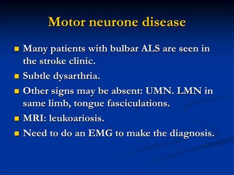 symptoms of motor neuron disease ppt and stroke mimics spells powerpoint