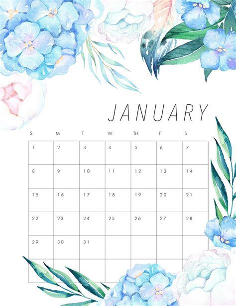 printable calendar 2017 pretty free printable 2017 floral calendar pretty flowers free