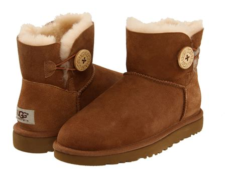 To Ugg Or Not To Ugg by Ugg Mini Bailey Button Chestnut Zappos Free Shipping