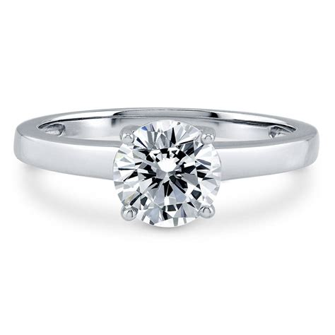 berricle sterling silver cut cz solitaire engagement