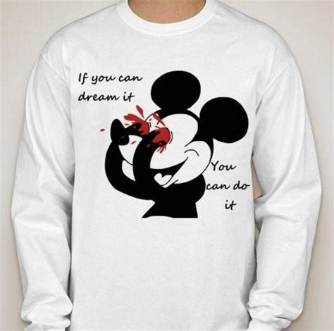 Acab White T Shirt mickey mouse bleeding you can do it sleeve t