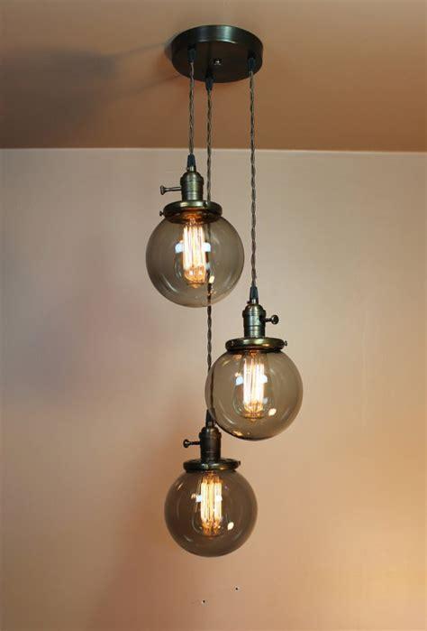 Bubble Ball Chandelier Chandelier Lighting Pendant Lights Grey Smoke Glass