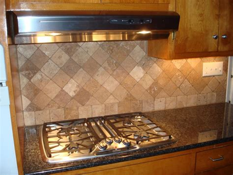 how to make a kitchen backsplash travertine tile for backsplash in kitchen great home