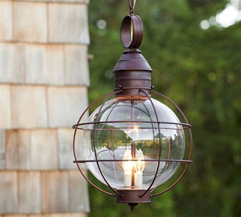 pottery barn hanging lights fisherman s pendant traditional outdoor hanging lights