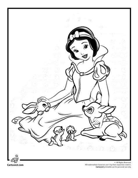 snow bunny coloring pages snow white color pages az coloring pages