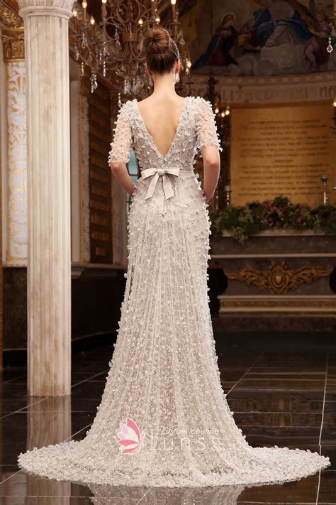 Dress Luxury Dress luxury sequin floral white evening dress with