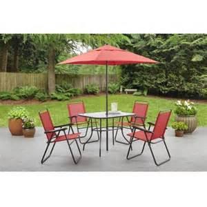 Outdoor Patio Furniture Walmart Mainstays Searcy Creek 6 Folding Outdoor Dining Set Walmart