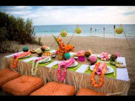 hawaiian table decorations ideas hawaiian luau party ideas youtube