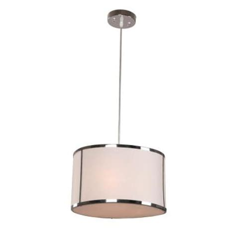 hton bay newborough 3 light chrome with white shade