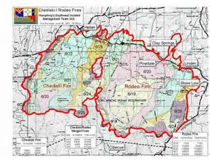 fires in arizona map pictures of rodeo chediski wildfire