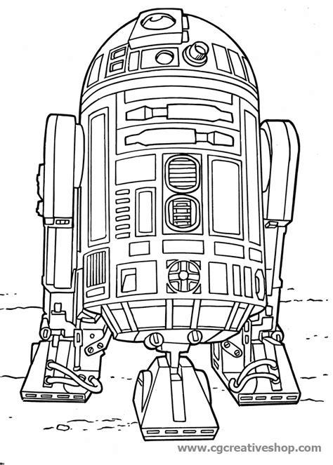 Robot R2 D2   Guerre Stellari   disegno da colorare