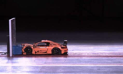 Porsche 911 Crash Test by Crashtest Mit Einem Porsche 911 Aus Lego