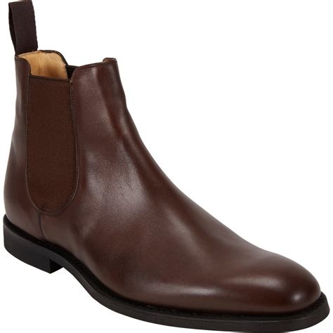 church s ely plain toe chelsea boots in brown for lyst