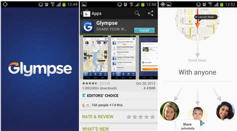 glympse android your location and gps coordinates in android