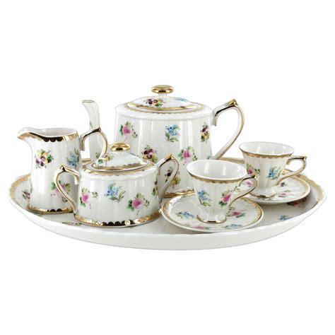 childrens tea set 10 pcs petite floral