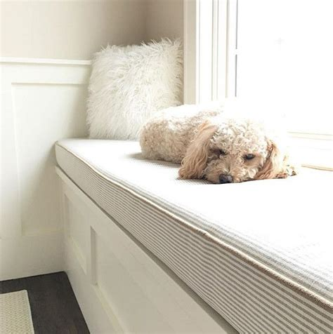 dog window bench window seat cushion fabric custom made window seat